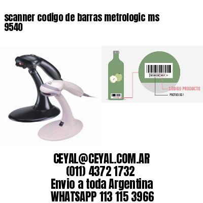 scanner codigo de barras metrologic ms 9540