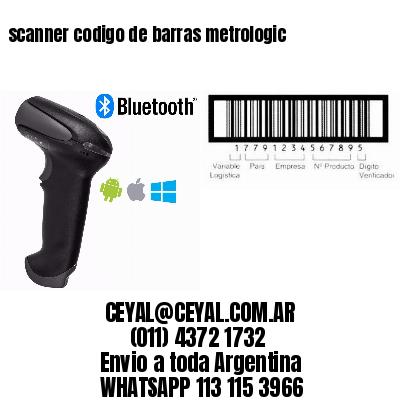 scanner codigo de barras metrologic