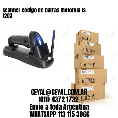 scanner codigo de barras motorola ls 1203