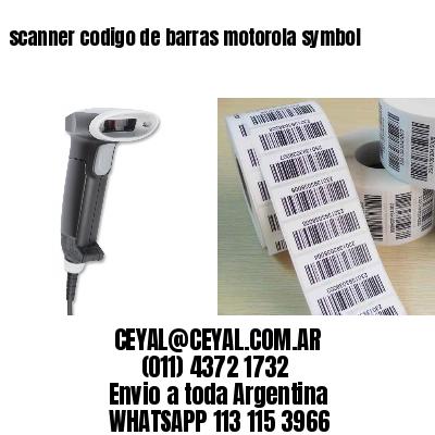 scanner codigo de barras motorola symbol