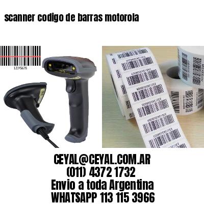 scanner codigo de barras motorola