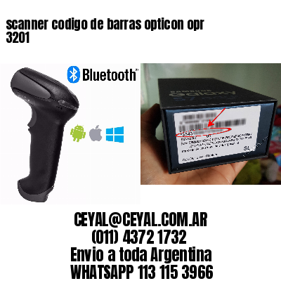 scanner codigo de barras opticon opr 3201