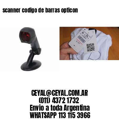 scanner codigo de barras opticon