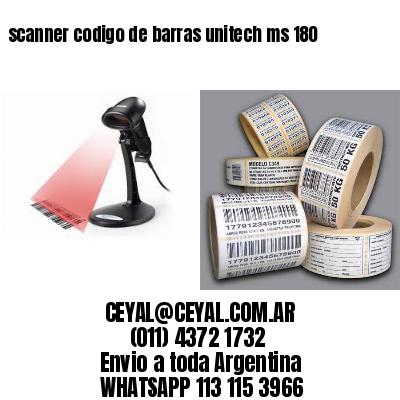 scanner codigo de barras unitech ms 180