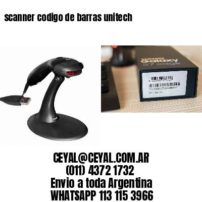 scanner codigo de barras unitech