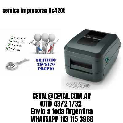 service impresoras Gc420t