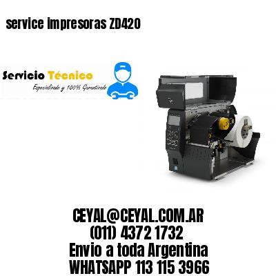 service impresoras ZD420
