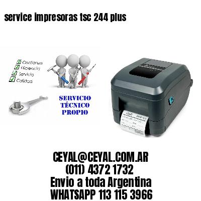 service impresoras tsc 244 plus
