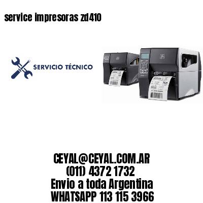 service impresoras zd410