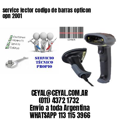 service lector codigo de barras opticon opn 2001