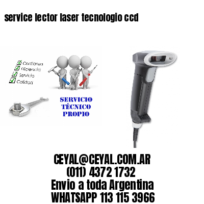 service lector laser tecnologio ccd