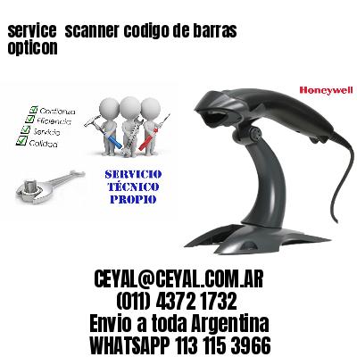 service  scanner codigo de barras opticon