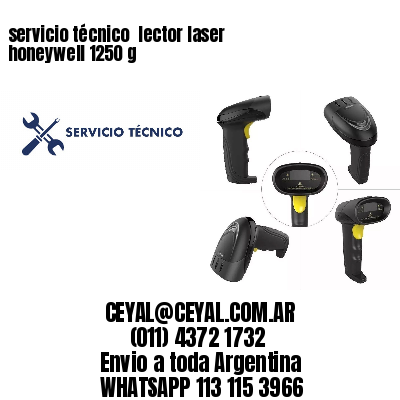servicio técnico  lector laser honeywell 1250 g