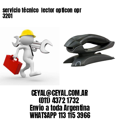 servicio técnico  lector opticon opr 3201