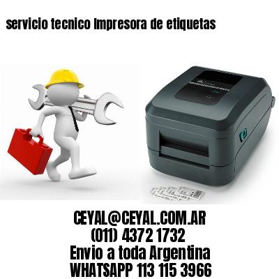 servicio tecnico Impresora de etiquetas