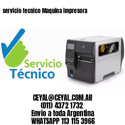servicio tecnico Maquina impresora
