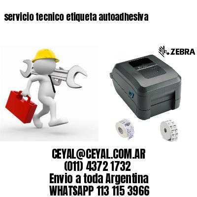 servicio tecnico etiqueta autoadhesiva