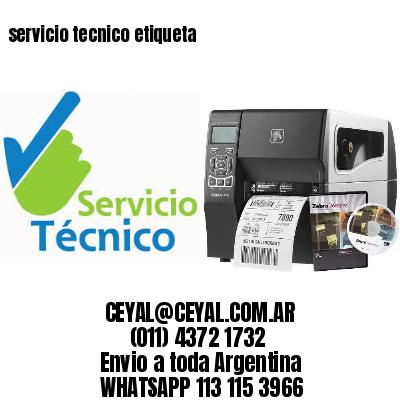 servicio tecnico etiqueta