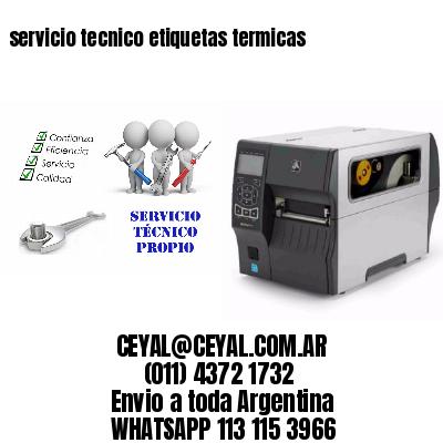 servicio tecnico etiquetas termicas