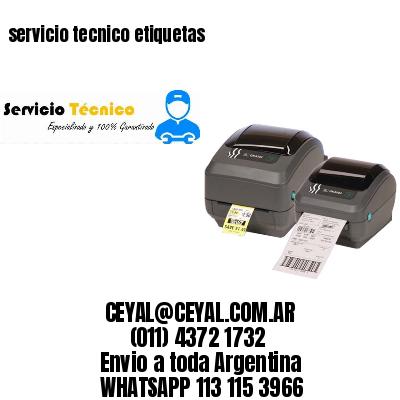servicio tecnico etiquetas