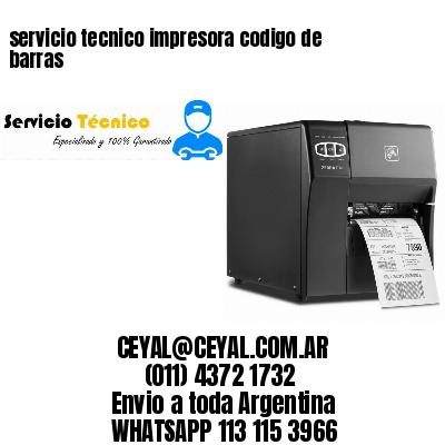 servicio tecnico impresora codigo de barras