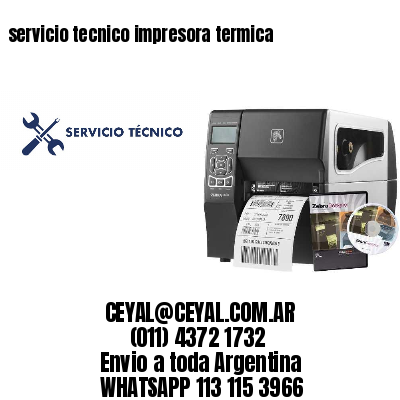 servicio tecnico impresora termica