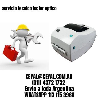 servicio tecnico lector optico