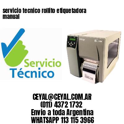 servicio tecnico rollito etiquetadora manual