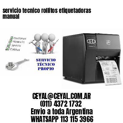 servicio tecnico rollitos etiquetadoras manual