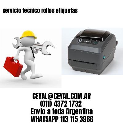 servicio tecnico rollos etiquetas