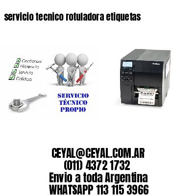 servicio tecnico rotuladora etiquetas