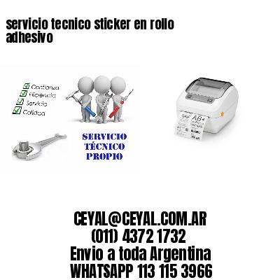 servicio tecnico sticker en rollo adhesivo