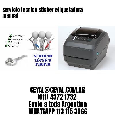 servicio tecnico sticker etiquetadora manual