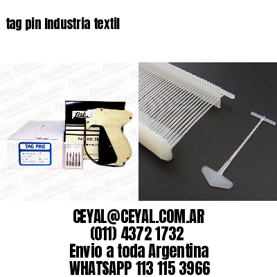 tag pin Industria textil