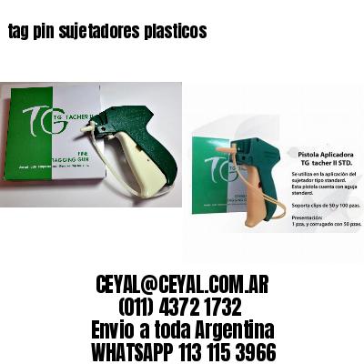 tag pin sujetadores plasticos