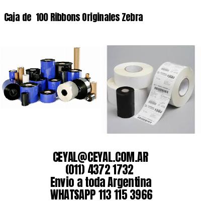 Caja de  100 Ribbons Originales Zebra