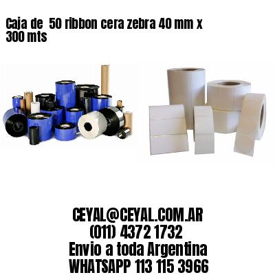 Caja de  50 ribbon cera zebra 40 mm x 300 mts