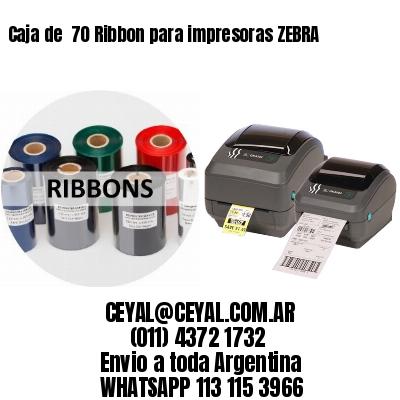 Caja de  70 Ribbon para impresoras ZEBRA