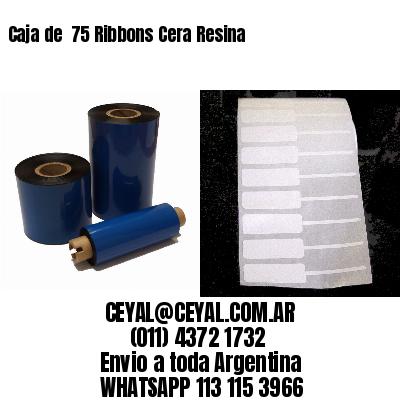 Caja de  75 Ribbons Cera Resina
