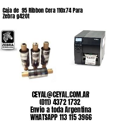 Caja de  95 Ribbon Cera 110x74 Para Zebra g420t