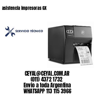 asistencia impresoras GX