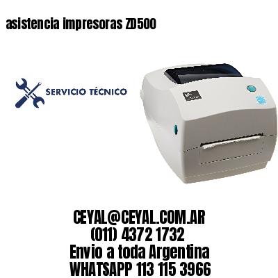asistencia impresoras ZD500