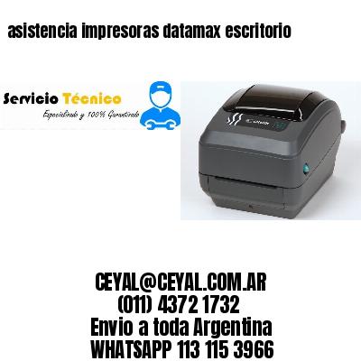 asistencia impresoras datamax escritorio