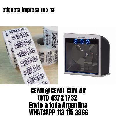 etiqueta impresa 10 x 13