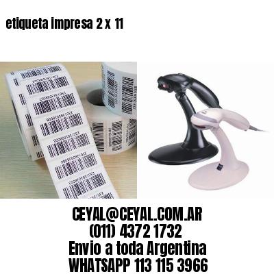 etiqueta impresa 2 x 11