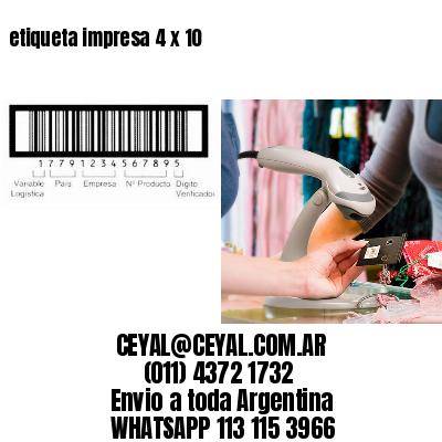 etiqueta impresa 4 x 10