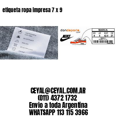 etiqueta ropa impresa 7 x 9