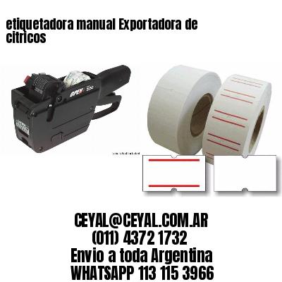 etiquetadora manual Exportadora de citricos