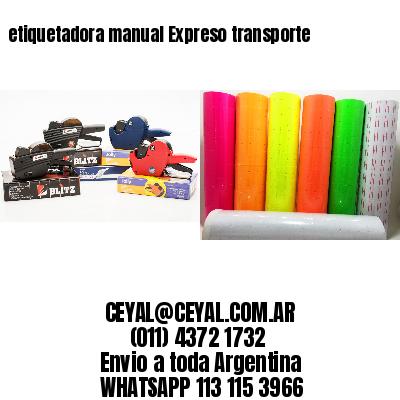 etiquetadora manual Expreso transporte