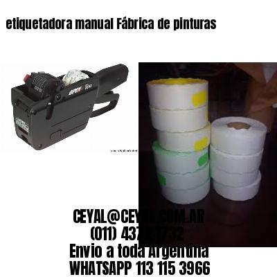 etiquetadora manual Fábrica de pinturas